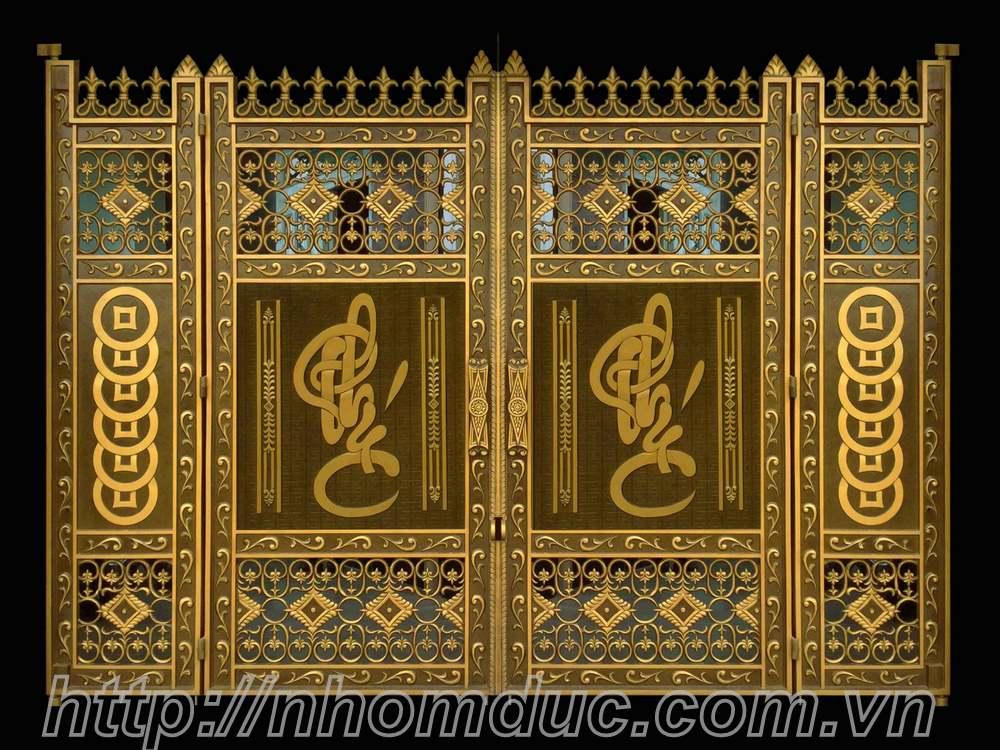 Mẫu cửa nhôm đúc GAT 103, cửa cổng nhôm đúc Fuco mẫu mã đẹp