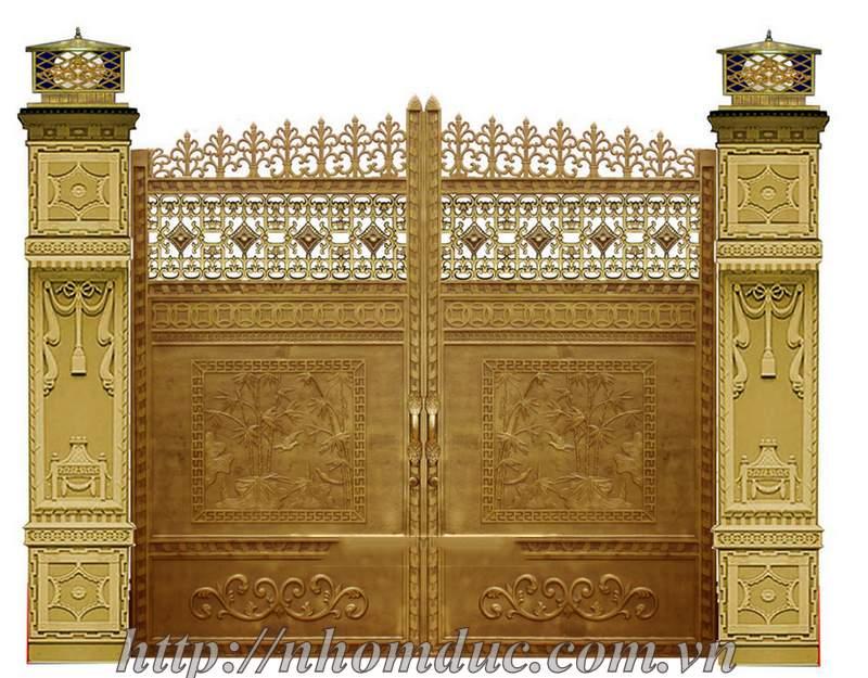 Cửa cổng nhôm đúc, cua cong nhom duc, cửa đúc