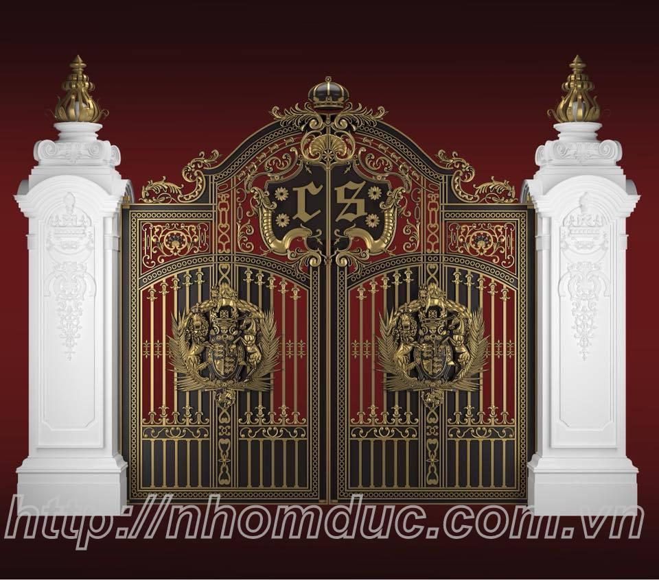 Cửa cổng nhôm đúc tại Hải Phòng, cty Fuco chuyên sản xuất, phân phối