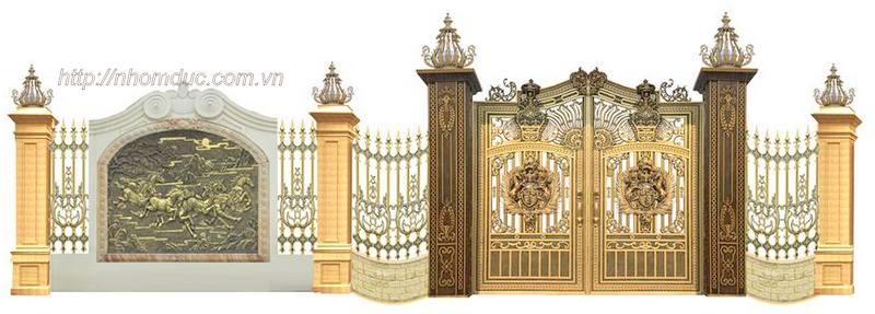 Cửa cổng hợp kim nhôm đúc, nhôm đúc Fuco, nhôm đúc hà nội, cửa nhôm đúc, nhôm đúc biệt thự, cổng nhôm đúc