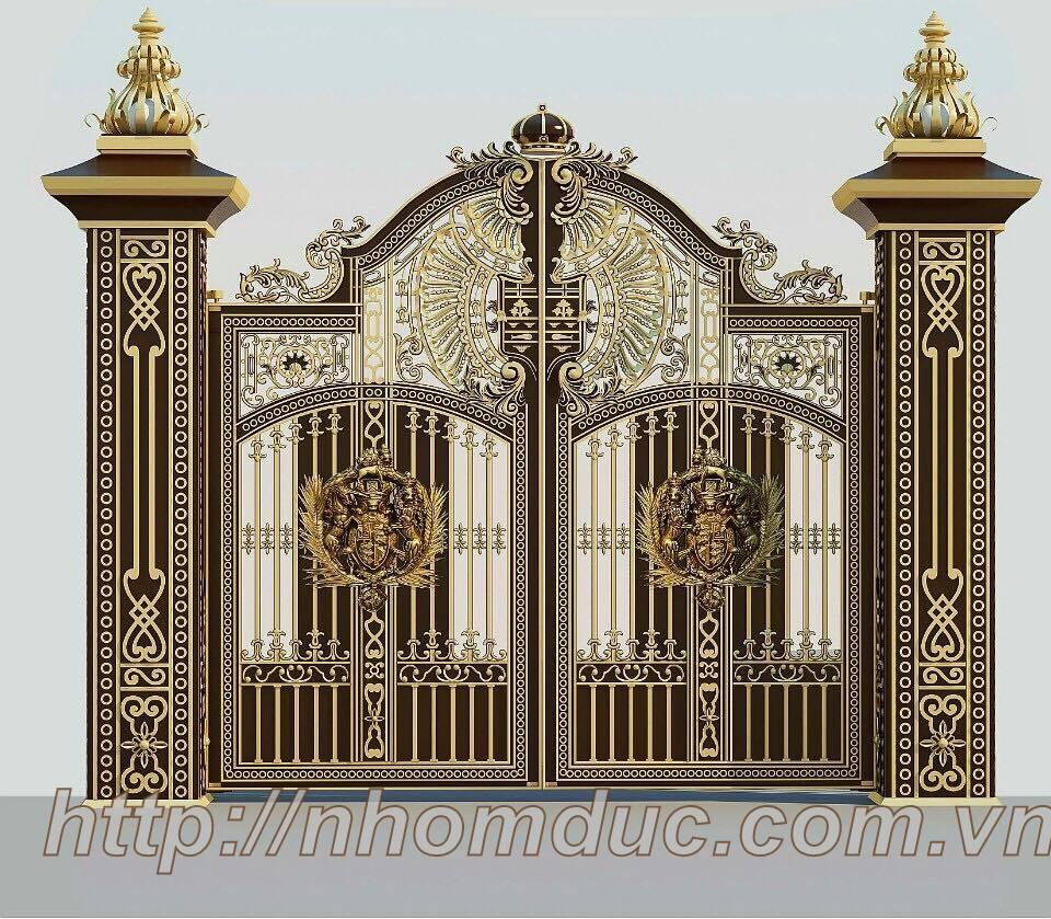 Mẫu cửa cổng nhôm đúc GAT 125, Cửa cổng nhôm đúc Fuco mẫu mã đẹp