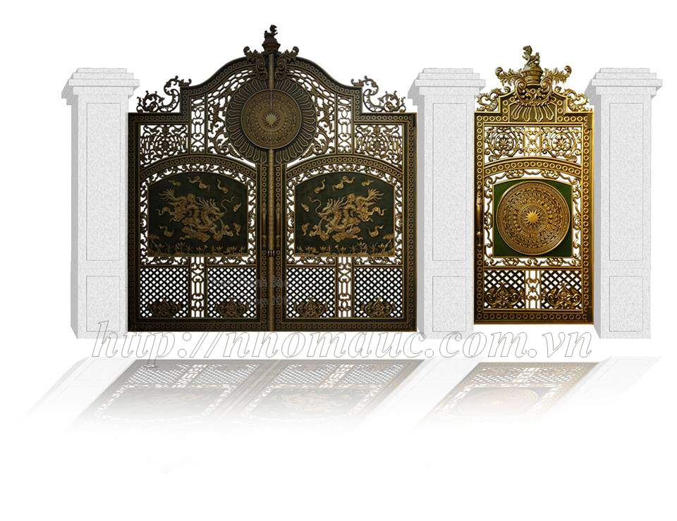 Cổng biệt thự, cổng nhôm đúc biệt thự đẹp Fuco, các dòng sản phẩm nhôm đúc như cửa nhôm đúc