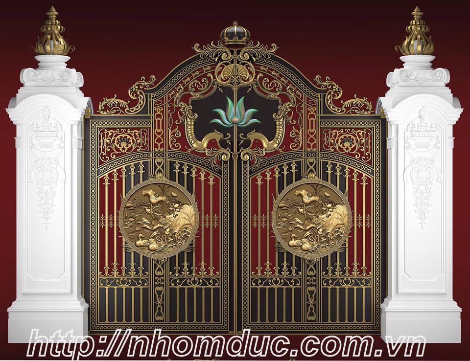 Cổng nhôm đúc đẹp, Nhôm đúc Thái Bình
