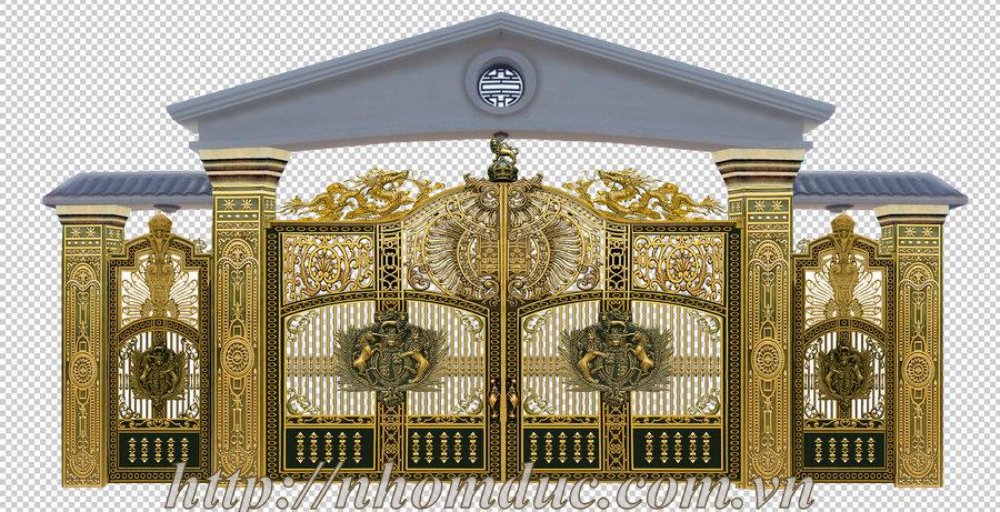 Báo giá cổng nhôm đúc Fuco, giá 270kg