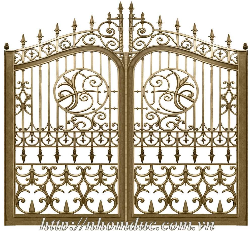 Cổng cửa nhôm đúc tham khảo GAT 1, Nhôm đúc Fuco