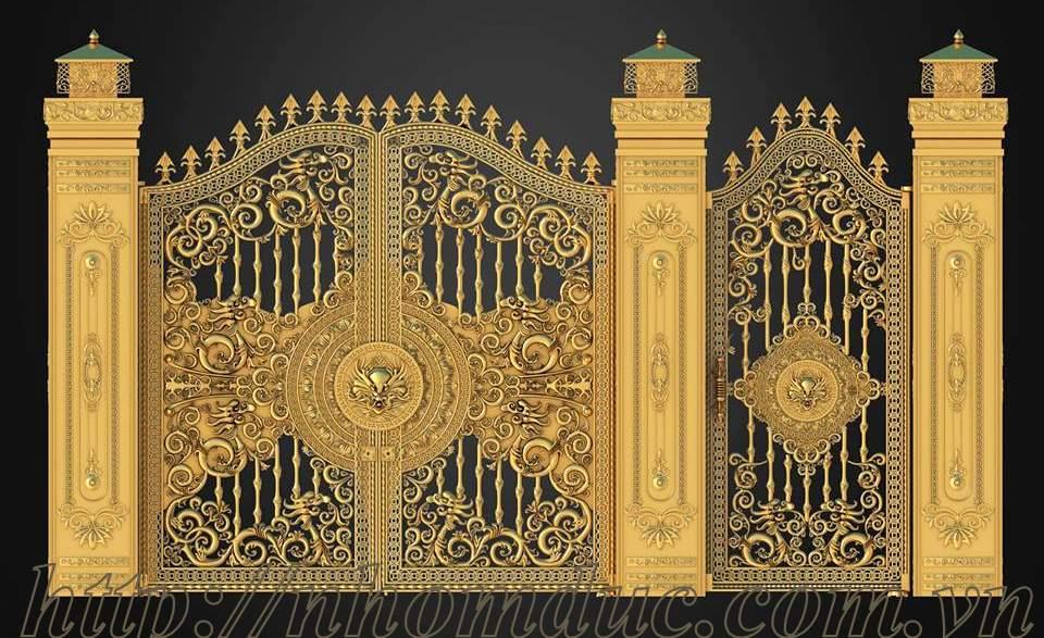 Sản xuất cửa cổng nhôm đúc