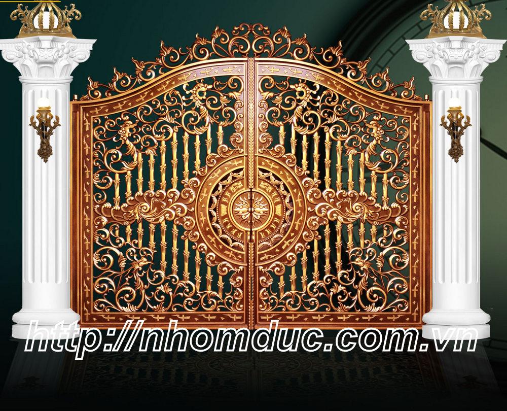 Thiết Kế Cổng Nhôm Đúc Đẹp